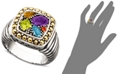 EFFY Collection Balissima by EFFY Multistone Square Ring (1-1/2 ct. t.w.) in 18k Gold and Sterling Silver