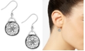 Lucky Brand Silver-Tone Disc Drop Earrings