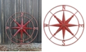 3R Studio Round Metal Compass Wall Decor