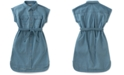 Calvin Klein Cotton Chambray Shirtdress, Big Girls (7-16)