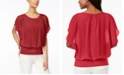 JM Collection Petite Flutter Sleeve Top, Created for Macy's