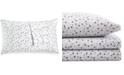 BCBGeneration Cotton Percale 200 Thread Count Ditsy Floral Pair of King Pillowcases