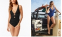 Lauren Ralph Lauren Beach Club Cutout Front Tummy-Control One-Piece Swimsuit