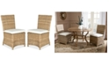 Safavieh Ellerie Set of 2 Wicker Dining Chairs