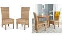 Safavieh Karmon Set of 2 Wicker Dining Chairs