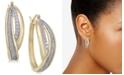 Macy's Diamond Glitter Overlap Hoop Earrings (1/4 ct. t.w.) in 18k Gold-Plated Sterling Silver