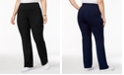 Style & Co Plus Size Tummy-Control Bootcut Yoga Pants, Created for Macy's