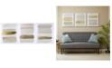 JLA Home Urban Habitat Traveling Road Grey 3-Pc. Foil-Embellished Canvas Print Set