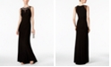 Vince Camuto Embellished Illusion Column Gown