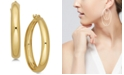 Macy's Polished Flex Hoop Earrings in 10k Gold, 1 inch