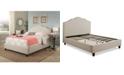 Abbyson Living Celeste Upholstered Platform Bed Collection, Quick Ship