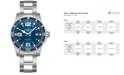 Longines Men's Swiss HydroConquest Stainless Steel Bracelet Watch 41mm