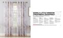 Lichtenberg No. 918 Andorra Crushed Voile Floral Watercolor Grommet Curtain Panels