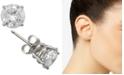 Macy's Diamond Stud Earrings in 14k Gold or White Gold (2 ct. t.w.)