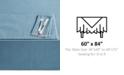 "Lenox French Perle Denim 60"" x 84"" Tablecloth"