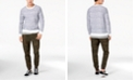 American Rag Men's Layered Distressed-Stripe Sweatshirt & Classic-Fit Camo Cargo Joggers, Created for Macy's