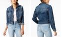 Celebrity Pink Juniors' Ripped Dark Wash Denim Jacket