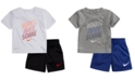 Nike 2-Pc. Awesome-Print T-Shirt & Shorts Set, Baby Boys
