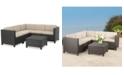 Furniture Murano Outdoor 6-Pc. Sectional Sofa Set, Quick Ship