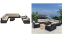 Furniture Santa Rosa Outdoor 10-Pc. Sectional Sofa Set, Quick Ship