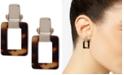Lauren Ralph Lauren Gold-Tone Tortoise Shell-Look Square Drop Earrings