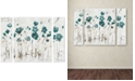 "Trademark Global Lisa Audit 'Abstract Balance VI Blue' Multi Panel Art Set Small - 32"" x 24"" x 2"", 24"" x 32"""