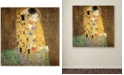 "Trademark Global Gustav Klimt 'The Kiss 1907-8' Canvas Art - 35"" x 35"""
