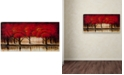 """Trademark Global Rio 'Parade of Red Trees II' Canvas Art - 47"""" x 24"""""""