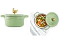 Martha Stewart Collection 2-Qt. Enameled Cast Iron Dutch Oven with Rooster Finial, Created for Macy's