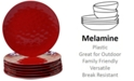 Certified International 6-Pc. Red Melamine Dinner Plate Set