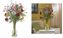 Nearly Natural Veranda Garden Artificial Flower Arrangement with Glass Vase