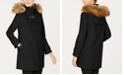 Cole Haan Faux-Fur-Trim Hooded Coat