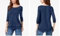Style & Co Chiffon-Hem Top, Created for Macy's