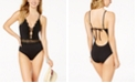 Becca Muse Crochet Plunging One-Piece Swimsuit