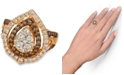 Le Vian Chocolate & Nude™ Diamond Cluster Halo Ring (1-9/10 ct. t.w.) in 14k Rose, Yellow or White Gold
