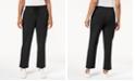 Karen Scott Sport Drawstring Straight-Leg Pants, Created for Macy's