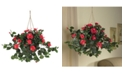 Nearly Natural Hibiscus Artificial Plant Hanging Basket