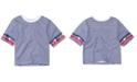 Levi's Toddler Girls Striped High-Rise Cotton T-Shirt