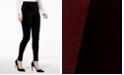 INC International Concepts I.N.C. Shaping Mixed-Media Velvet Leggings, Created for Macy's
