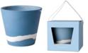 "Wedgwood Burlington  Blue & White Pot 7"""