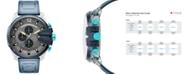 Diesel Men's Chronograph Mega Chief Blue Polyurethane Strap Watch 51mm