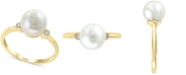 EFFY Collection EFFY® Cultured Freshwater Pearl (8mm) & Diamond Accent Ring in 14k Gold
