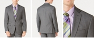 Ryan Seacrest Distinction Men's Ultimate Moves Modern-Fit Stretch Black/White Birdseye Suit Jacket, Created for Macy's