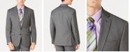 Ryan Seacrest Distinction Men's Ultimate Moves Modern-Fit Stretch Black/White Birdseye Suit Jacket, Created for Macy's