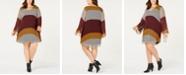ECI Plus Size Colorbocked Striped Trapeze Dress