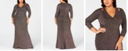 Calvin Klein Plus Size Cutout Glitter Gown