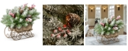 """National Tree Company 10"""" Dunhill Fir Sleigh with Snow, Berries and Cones"""