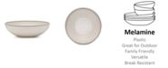 "Q Squared Potter Stone 12"" Melamine Round Serving Bowl"