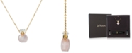 """Le Vian Rose Quartz Perfume Jewelry Bottle 20""""-24"""" Pendant Necklace (10 ct. t.w.) in 14K Rose Gold-Plated Silver"""