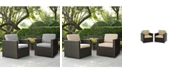 Crosley Palm Harbor 2 Piece Outdoor Wicker Seating Set With Cushions - 2 Outdoor Wicker Chairs